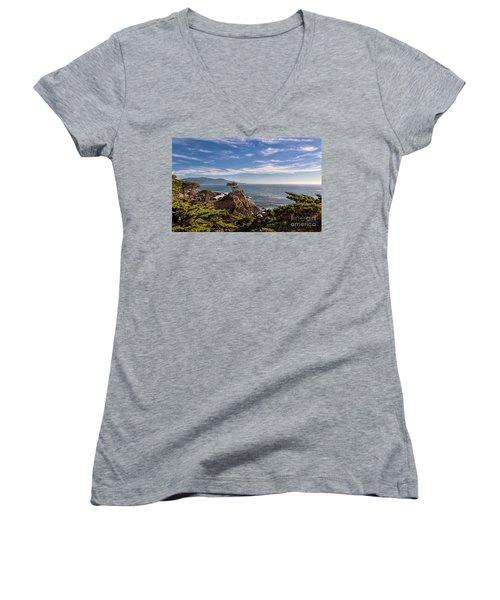 Standing Watch Women's V-Neck T-Shirt (Junior Cut) by Gina Savage