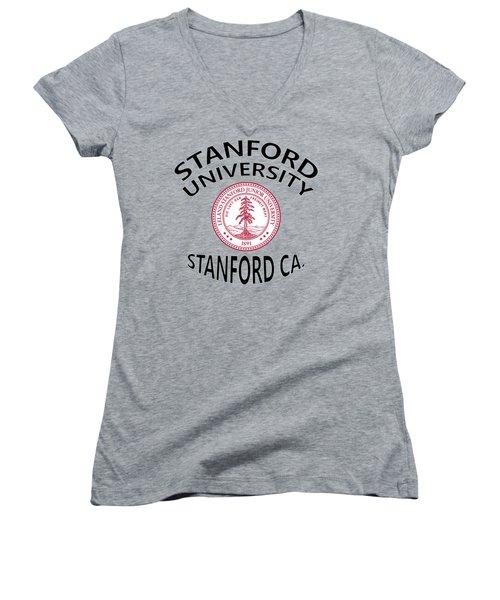 Stanford University Stanford California  Women's V-Neck (Athletic Fit)