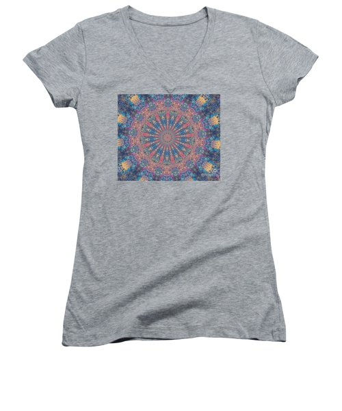 Women's V-Neck T-Shirt (Junior Cut) featuring the photograph Star Constellations by Shirley Moravec