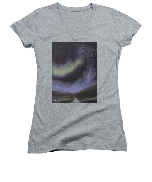 Star Path Women's V-Neck T-Shirt (Junior Cut) by Dan Wagner