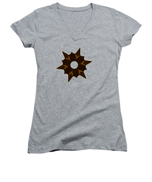Star Record No. 2 Women's V-Neck T-Shirt (Junior Cut) by Stephanie Brock