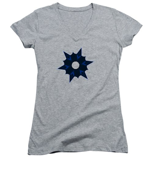Star Record No. 3 Women's V-Neck T-Shirt (Junior Cut) by Stephanie Brock