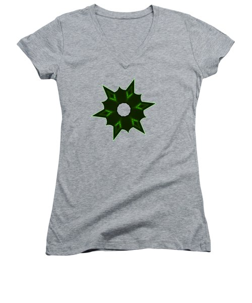 Star Record No. 4 Women's V-Neck T-Shirt (Junior Cut) by Stephanie Brock