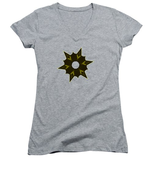 Star Record No. 5 Women's V-Neck T-Shirt (Junior Cut) by Stephanie Brock