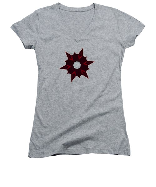 Star Record No. 6 Women's V-Neck T-Shirt (Junior Cut) by Stephanie Brock