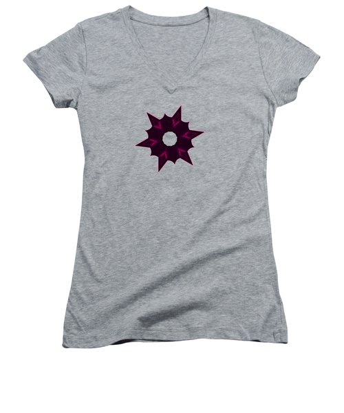 Star Record No. 7 Women's V-Neck T-Shirt (Junior Cut) by Stephanie Brock