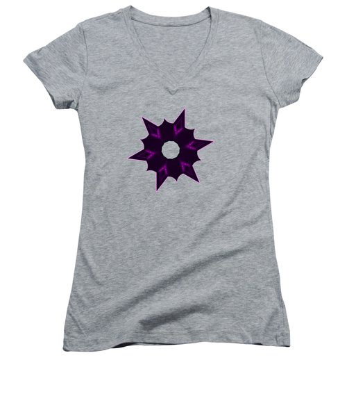 Star Record No. 8 Women's V-Neck T-Shirt (Junior Cut) by Stephanie Brock