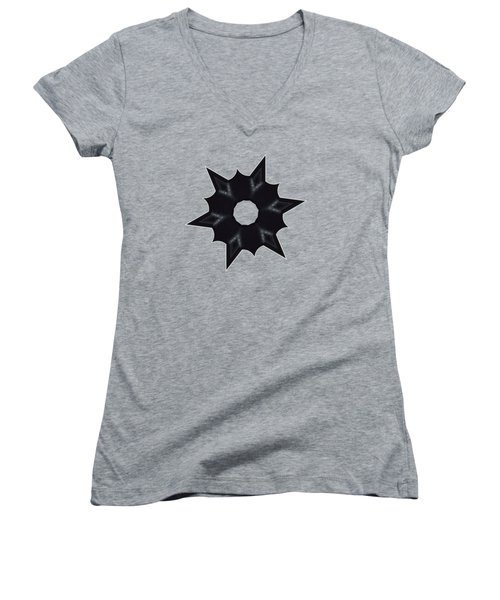 Star Record No.1 Women's V-Neck T-Shirt (Junior Cut) by Stephanie Brock