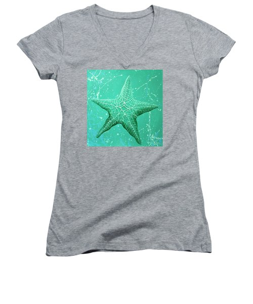 Starfish In Teal Women's V-Neck