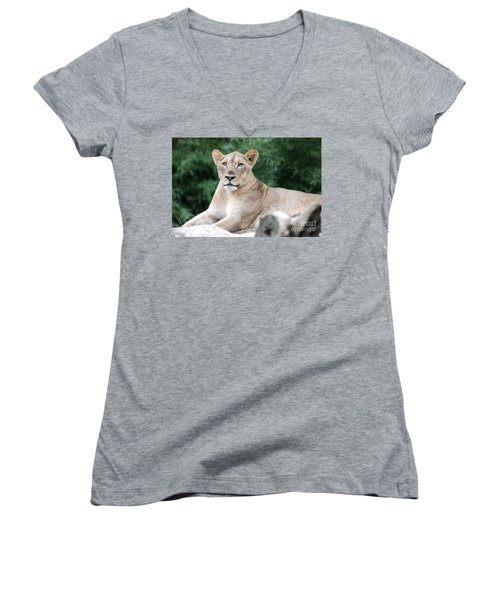 Staring Women's V-Neck T-Shirt