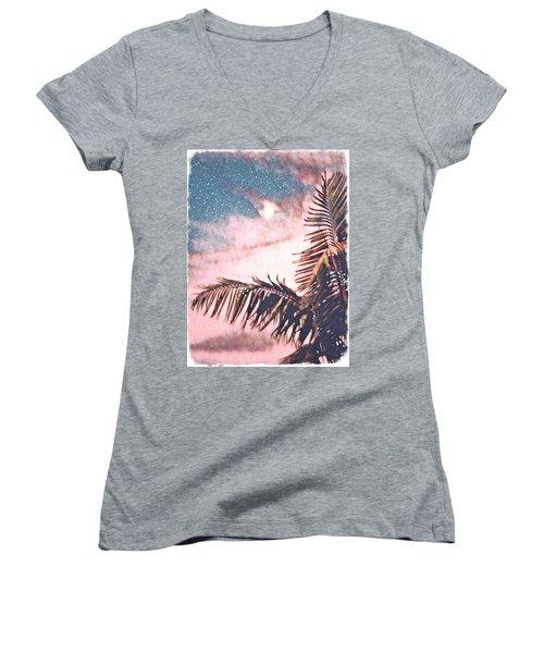 Starlight Palm Women's V-Neck