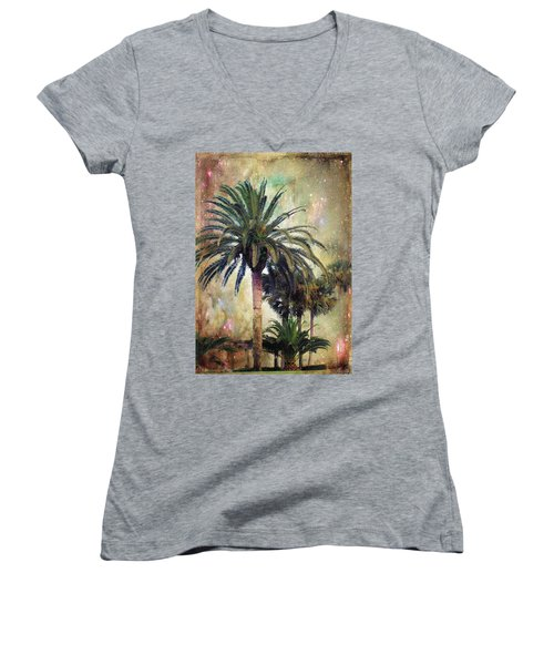 Women's V-Neck T-Shirt (Junior Cut) featuring the photograph Starry Evening In St. Augustine by Jan Amiss Photography