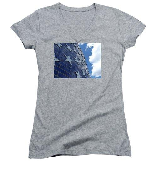 Stars And Stripes Women's V-Neck T-Shirt