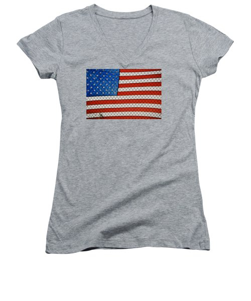 Stars And Stripes  Women's V-Neck