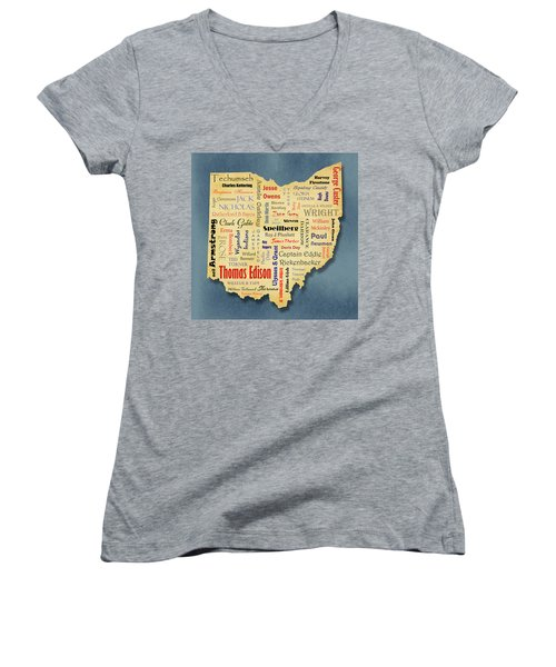 States - Famous Ohio Women's V-Neck T-Shirt