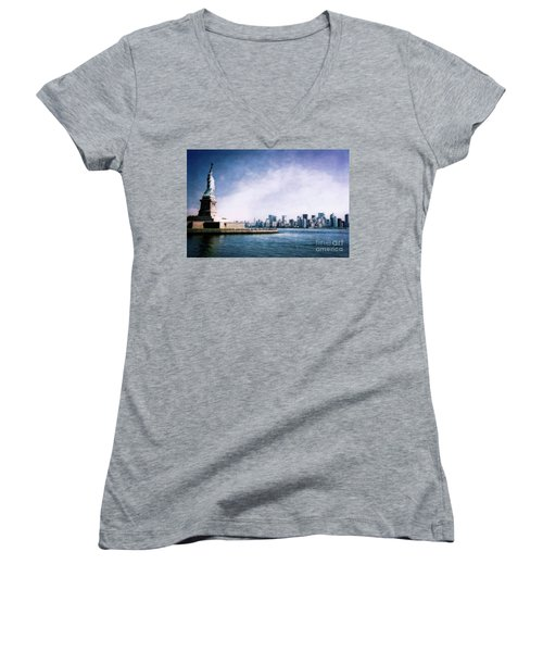 Statue Of Liberty Women's V-Neck