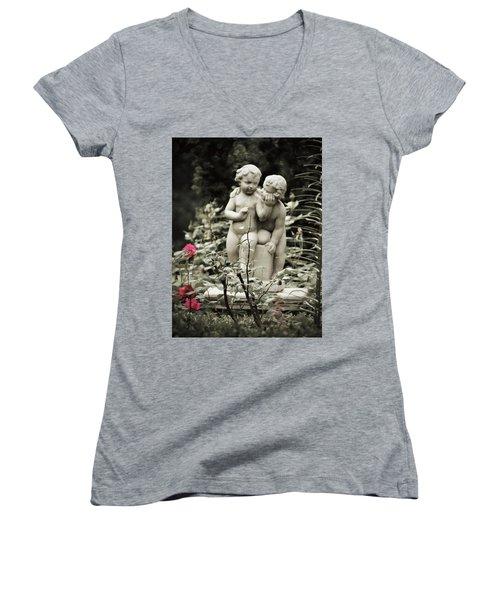 Statue Of Love Women's V-Neck