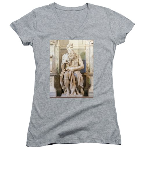 Statue Of Moses Women's V-Neck (Athletic Fit)