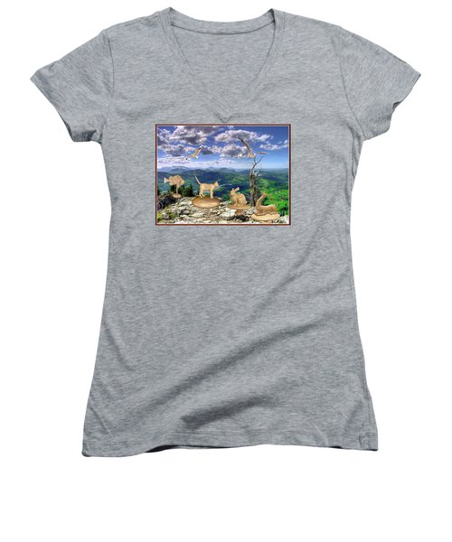 Statues Of The Rock Women's V-Neck T-Shirt