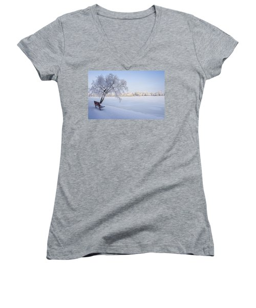 Stay A While Women's V-Neck