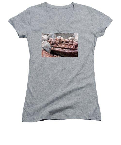 Steam Shovel Number Four Women's V-Neck T-Shirt