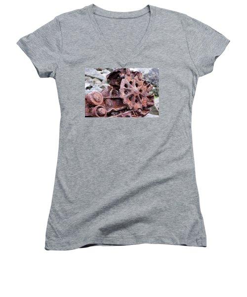 Steam Shovel Number Two Women's V-Neck T-Shirt