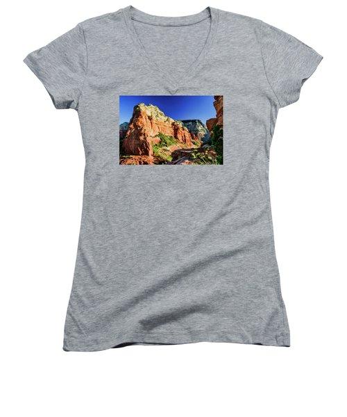 Steamboat 07-158 Women's V-Neck T-Shirt (Junior Cut) by Scott McAllister