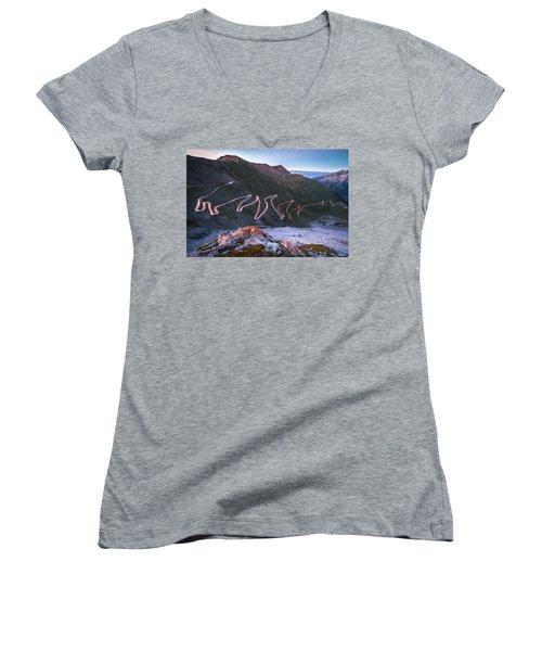 Stelvio Pass Women's V-Neck T-Shirt