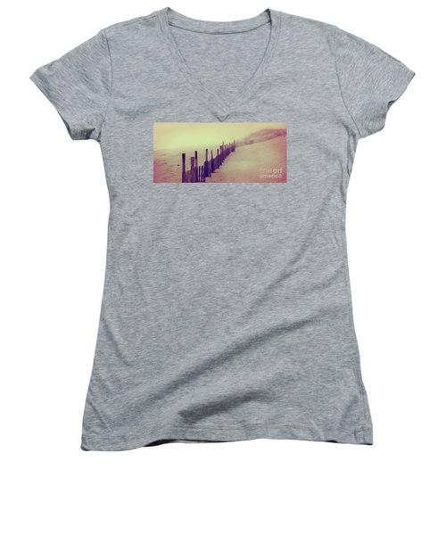 Stepping In A Clouded Dream Women's V-Neck