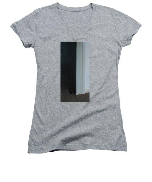 Stepping Into The Light? Women's V-Neck T-Shirt