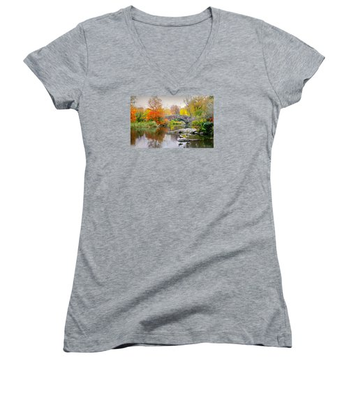 Stepping Stones Women's V-Neck T-Shirt (Junior Cut) by Diana Angstadt