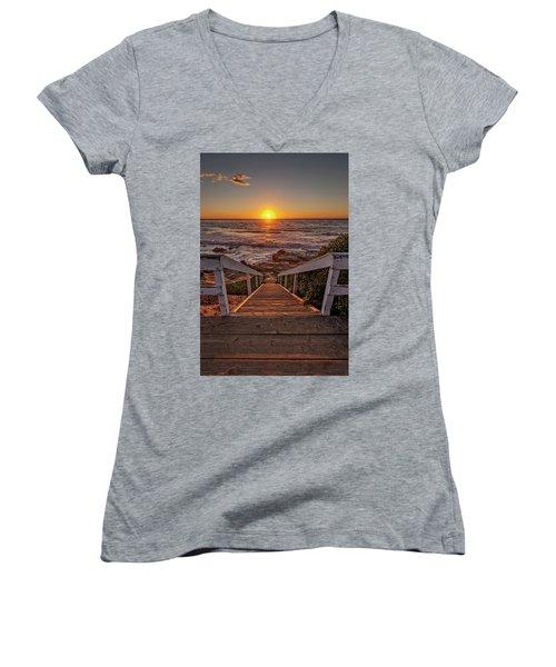 Steps To The Sun  Women's V-Neck T-Shirt