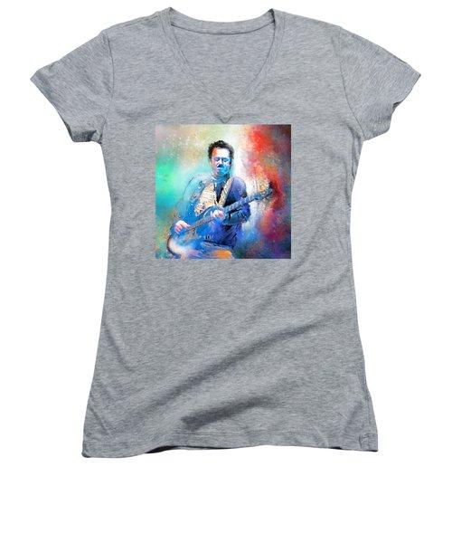 Steve Lukather 01 Women's V-Neck