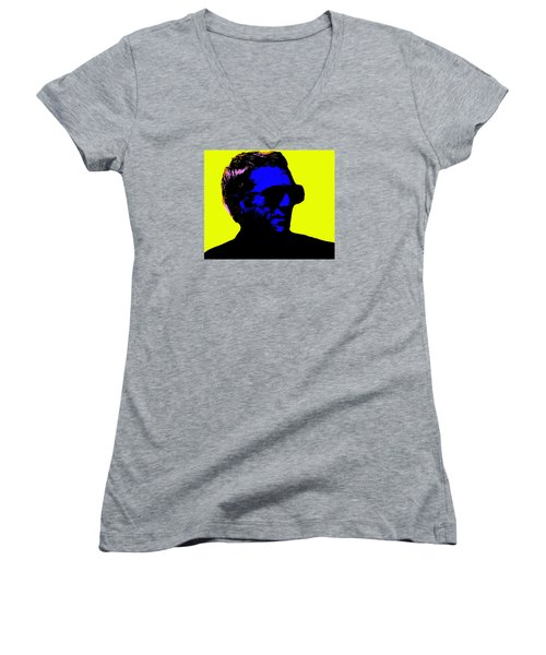 Steve Mcqueen Women's V-Neck T-Shirt (Junior Cut) by Emme Pons