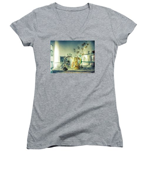 Still, Life Goes On Women's V-Neck T-Shirt (Junior Cut) by Wayne Sherriff