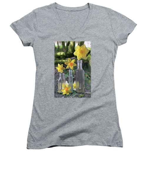 Still Life In The Woods Women's V-Neck (Athletic Fit)