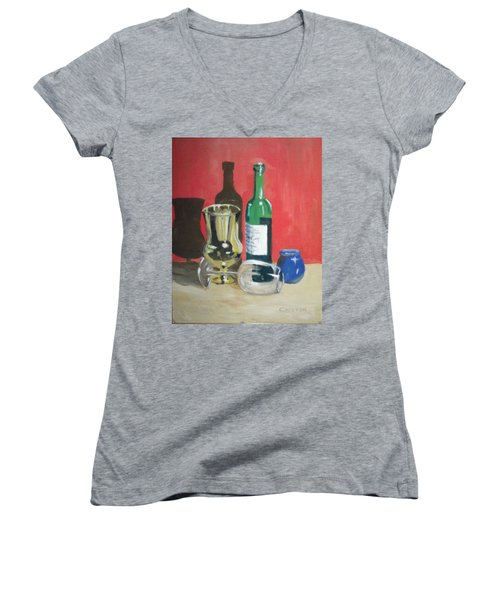 Still Life Shadows Women's V-Neck T-Shirt