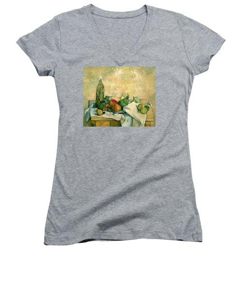 Still Life With Bottle Of Liqueur Women's V-Neck T-Shirt