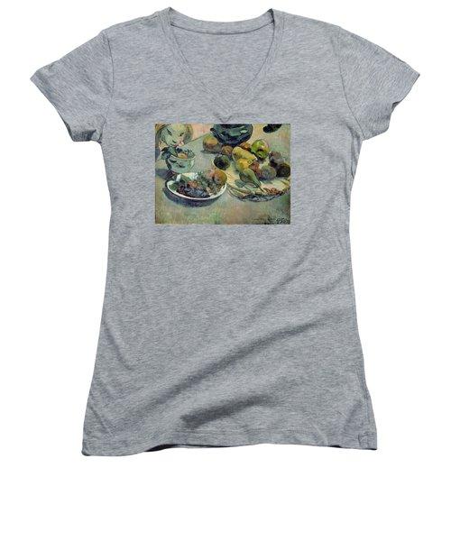 Still Life With Fruit Women's V-Neck T-Shirt