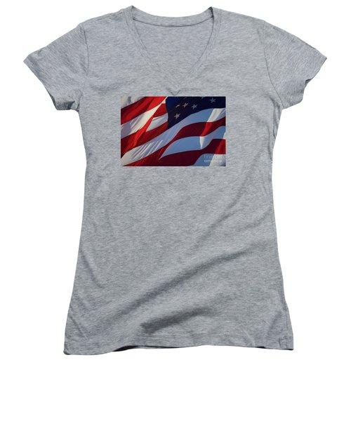 Still Our Flag. Women's V-Neck T-Shirt