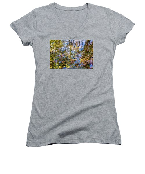 Stillness Holds Everything Women's V-Neck (Athletic Fit)