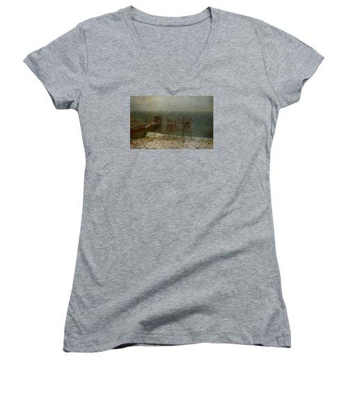 Stockfish Dryers Women's V-Neck T-Shirt (Junior Cut) by Vittorio Chiampan