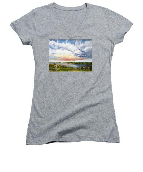 Stoker's  Swift Creek Women's V-Neck T-Shirt (Junior Cut)