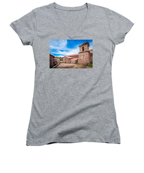Stone Buildings Women's V-Neck