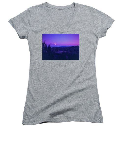Stone Cloud Sky Cloud Women's V-Neck T-Shirt