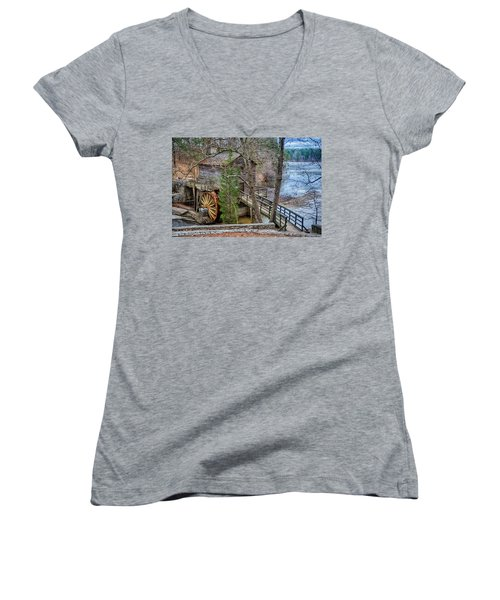Stone Mountain Park In Atlanta Georgia Women's V-Neck T-Shirt