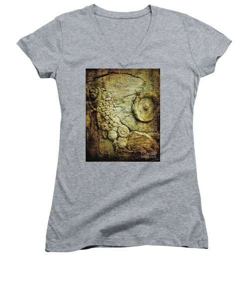 Stone Relief At Ephesus Women's V-Neck (Athletic Fit)