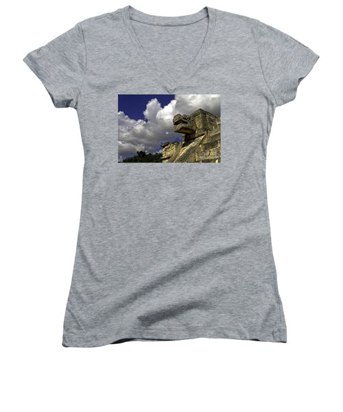 Stone Sky And Clouds Women's V-Neck (Athletic Fit)