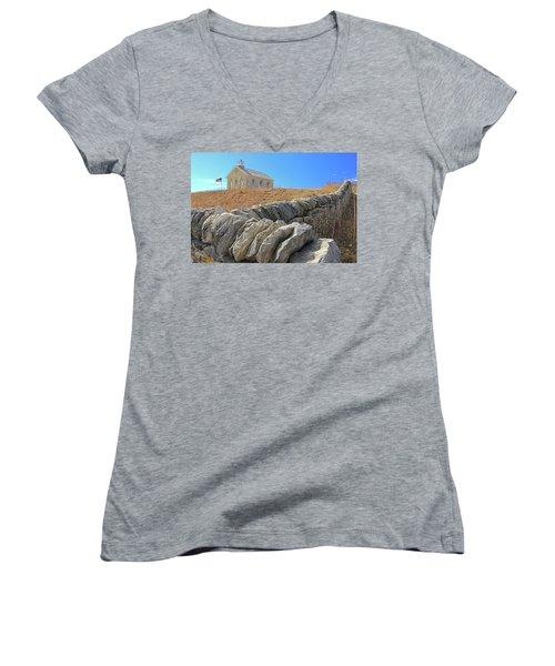 Stone Wall Education Women's V-Neck T-Shirt