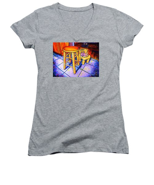 Stool Women's V-Neck T-Shirt (Junior Cut) by Viktor Lazarev